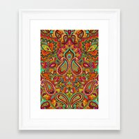 paisley Framed Art Prints featuring Paisley by Aimee St Hill