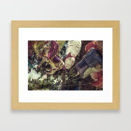 Flying Carousel Framed Art Print