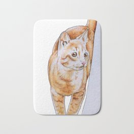 Sweet Tabby Cat Bath Mat