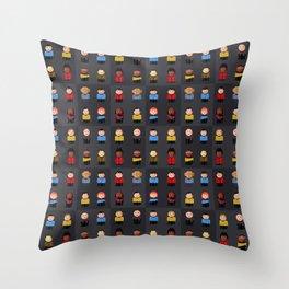 Star T - Little Ppl Throw Pillow