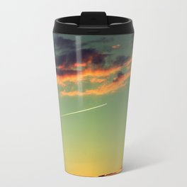 Sunset and Airplanes Travel Mug