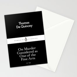 On Murder Considered as One of the Fine Arts Stationery Cards