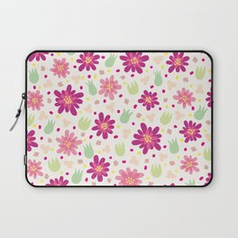 Purple and pink flowers Laptop Sleeve