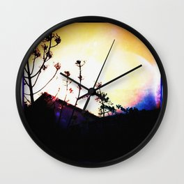 :: above the rooftops Wall Clock