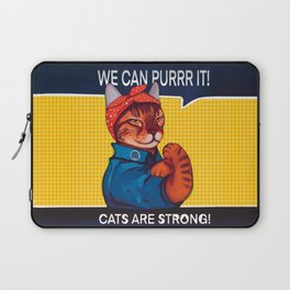 We can purr it , cats are strong parody we can do it Laptop Sleeve