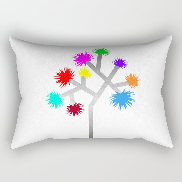 Joshua Tree Pom Poms by CREYES Rectangular Pillow