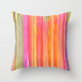 Neon Line Streaks Abstract Throw Pillow