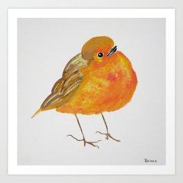 Tangerine Bird Art Print