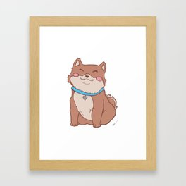 Poofers the Shiba Inu Puppy Framed Art Print