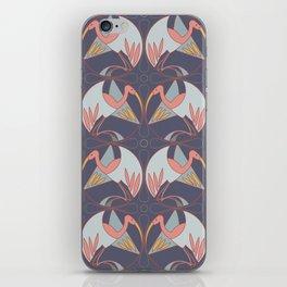 Art Deco Cranes - Lavender/Pink iPhone Skin