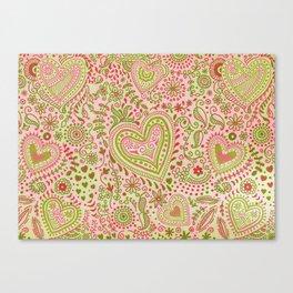 Eastern Love Pattern Canvas Print