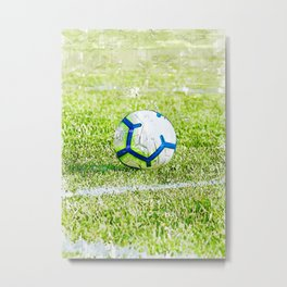 Soccer Ball On Pitch - For Soccer Lovers Metal Print