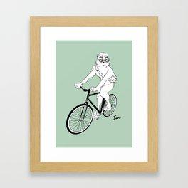 Owl Fixie Framed Art Print
