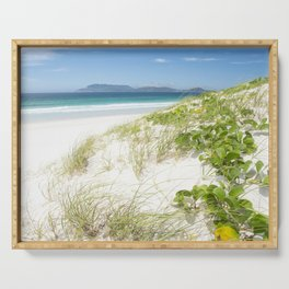 Beach with white sand and turquoise water in Cabo Frio - Brasil Serving Tray