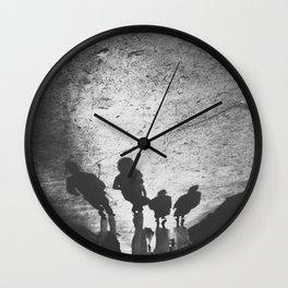 Family shadow Wall Clock
