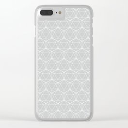 Icosahedron Soft Grey Clear iPhone Case