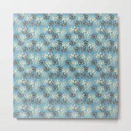 Seeds on blue Metal Print