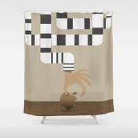 mac Shower Curtains featuring Who stole my Mac? by Miguel Angélus Batista