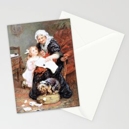 12,000pixel-500dpi - Frederick Morgan - The penitent puppy - Digital Remastered Edition Stationery Cards