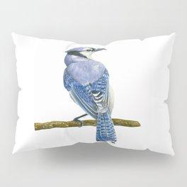 Blue jay watercolor Pillow Sham