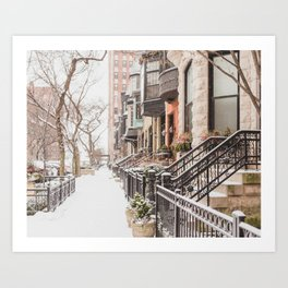 Chicago Snow Day Art Print