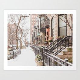 Chicago Snow Day Art Print