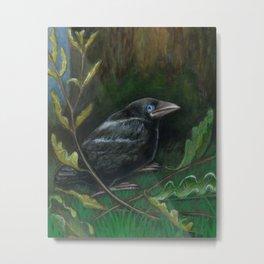 Fallen from the Nest -The Groundbird Metal Print