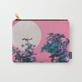 Pink sky and rowan tree Carry-All Pouch