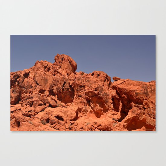 Red Valley III Canvas Print