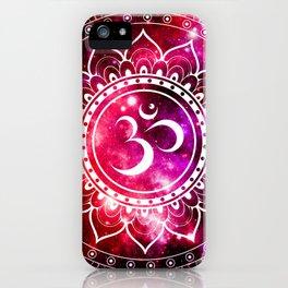 Ohm Mandala : Galaxy Mandala Red Fuchsia Pink iPhone Case