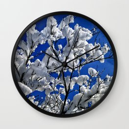 Snow Cotton Tree Wall Clock