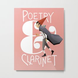 Poerty & Clarinet Metal Print