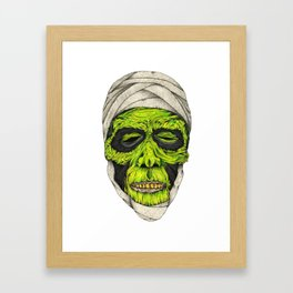 Mummy Head Framed Art Print