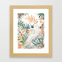 CLEMENTINE the Citron-Crested Cockatoo Framed Art Print