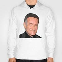robin williams Hoodies featuring A Man In Pieces - Robin Williams Memorial by Designs By Misty Blue (Misty Lemons)