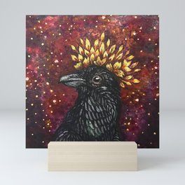 Leaf Crown Crow Mini Art Print