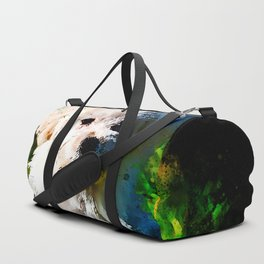maltese dog splatter watercolor Duffle Bag