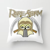 rare Throw Pillows featuring RARE FORM by DaeSyne Artworks