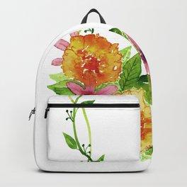 Flower Border Backpack