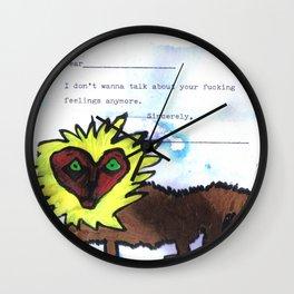 Your Feelings Wall Clock