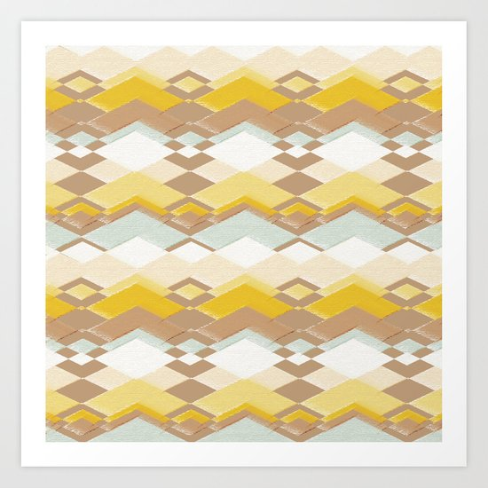 RETRO DESERT Art Print