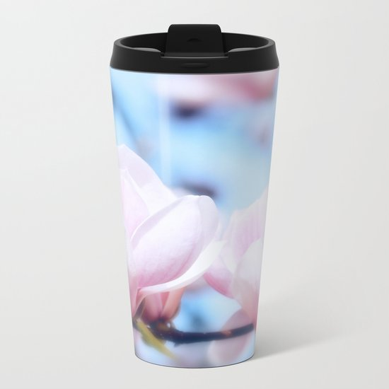 MAGNOLIAS Metal Travel Mug