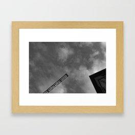 sky canvas Framed Art Print