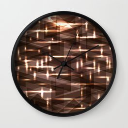 Bright cosmic luminous blackened bronze triangles. Wall Clock