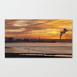 Port Talbot steel works Canvas Print