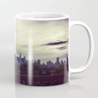 manhattan Mugs featuring Manhattan  by Claire Beaufort