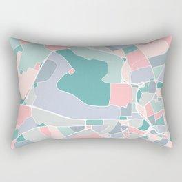 Antwerp City Map Art Rectangular Pillow