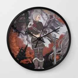 Clash of Two Worlds Wall Clock