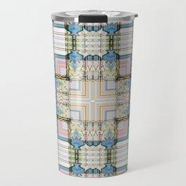Multi Tiled Pastel Pattern Abstract Travel Mug