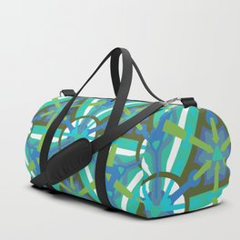 Ocean Geo - Geometric Pattern 1 Duffle Bag